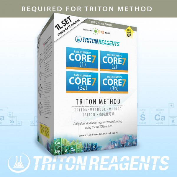 Triton Core7 Reef Supplements 4x1000ml für andere Methoden