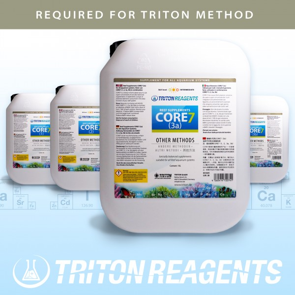Triton Core7 Bulk Liquid SET Reef Supplements 4x5Liter (flüssig) für andere Methoden